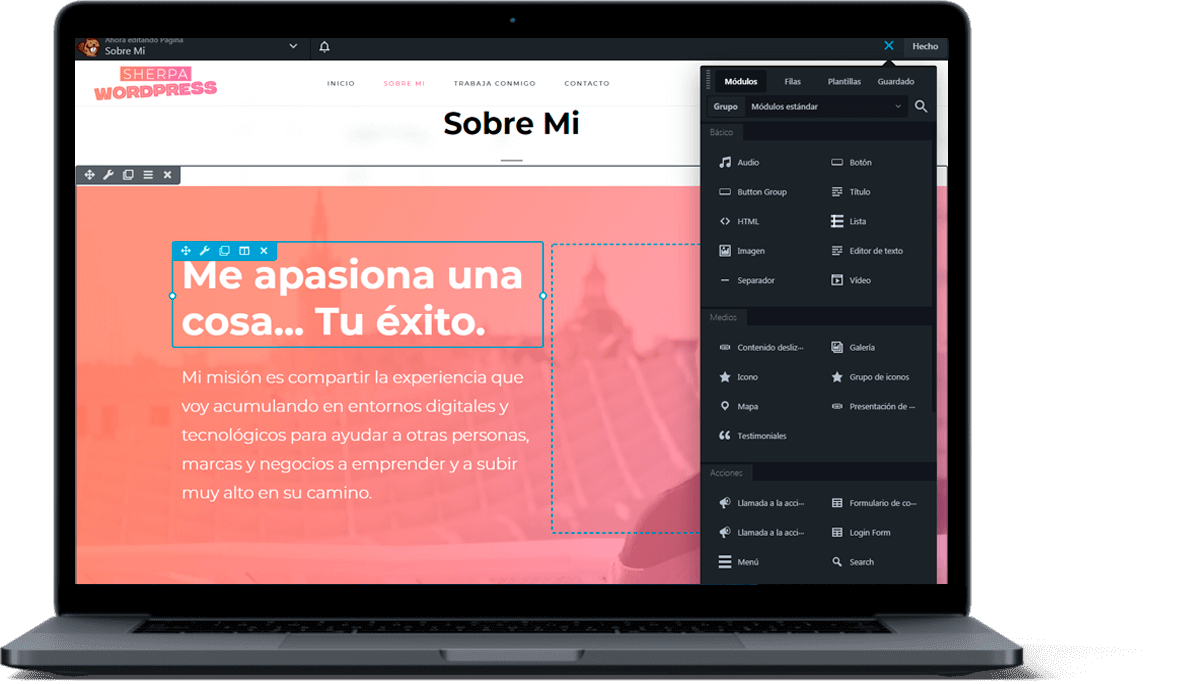 laptop-portatil-maquetación-pagina-web-diseño-sherpaWP